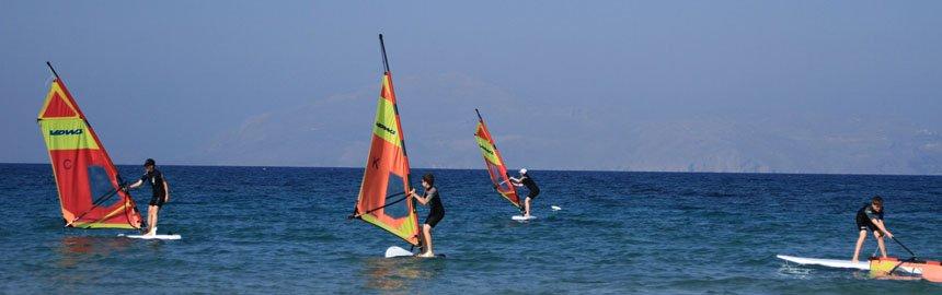 Windsurfen in Kos, Marmari und Mastichari
