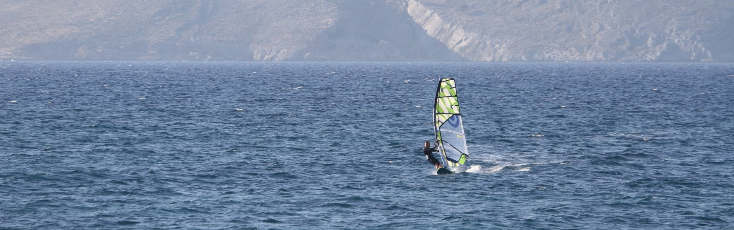 Windsurfen in Kos, Marmari