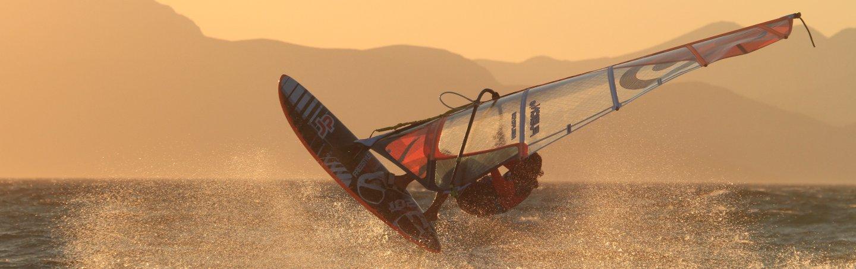 Windsurfing Kos Sunset