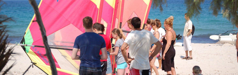 Windsurf-Kurs auch für Kinder in Kos