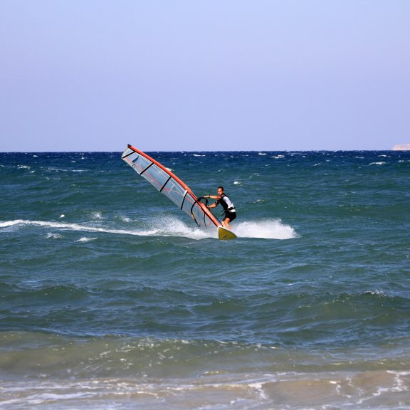 Windsurfing in Kos, Greece